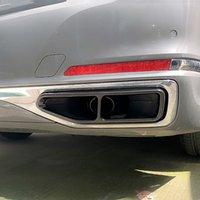 Voitures en acier inoxydable queue gorge Cadre Décoration Stickers Trim pour une BMW Série 7 G11 G12 2020 Pot d'échappement Accessoires