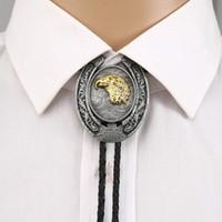 Bow Lazs 3D Animal Bolo Tie para hombre Cowboy Western Cowgirl Lather Cuerda Zinc Aleación Corbata Color Vintage