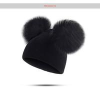 6 modèles Enfants Hat Tout-petits enfants bébé chaud laine d'hiver Bonnet Bonnet fourrure à pompons Chapeau garçons Bébés filles Cap 1-3Y Drop Shipping par amazzz