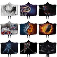 Familia HOTHockey capucha Sherpa Fleece Blanket Sofá niños manta para dormir para niños Yoga Deportes gruesa capa 130 * 150cm XD22675