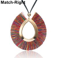 Ethnic Tassel Necklace for Women Charm Long Necklaces & Pend...