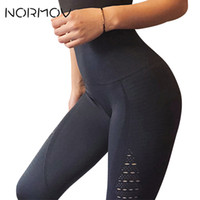 Normov Nahtlose Hohe Taille Yoga Leggings Strumpfhosen Frauen Workout Mesh Atmungsaktive Fitness Kleidung Trainingshose Weibliche 5 Farbe C19041901
