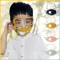 Face Masks With Breathing Valve Removable Full Face Protective Reuseable Masks Kids Dust-proof Anti-fog Cycling Mask YYA117
