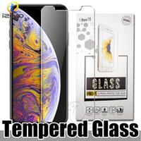 Téléphone portable Protections d'écran en verre trempé pour iPhone 11 Pro XS MAX XR X 8 7 6 Plus Anti-scrach Effacer la pleine colle Protecteur d'écran