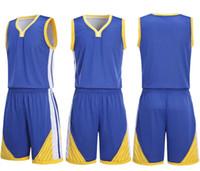 2019 Tragen Sie beidseitig eine Basketballuniform und einen atmungsaktiven, trockenen Basketballanzug