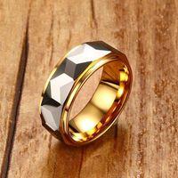 Mprainbow мужские кольца карбида вольфрама многогранный полированный кольцо для мужчин обручальное обручальное кольцо ювелирные изделия с подарочной коробке T190624