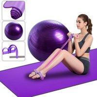 Çanta askısı ile Yoga Minderi Kiti 10mm Yoga Pilates Mat Seti NBR Battaniye / 65cm Topu / Pedal Ralli Ev Eğitimi Egzersiz Aletleri