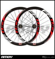 FFWD اللوحة 700C القرص الكربون النقطة الفاصلة 50mm الكربون العجلات عجلات الطريق Cyclocross دراجة دراجة قرص الفرامل محاور العجلات