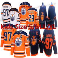Edmonton Oilers Kids (Juventude) Jerseys 97 Connor McDavid Jersey 29 Leon Dragaisaitl 93 Ryan Nugent-Hopkins Hóquei Jerseys