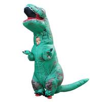 도매 Christimas 풍선 의상 키즈 T- 렉스 공룡 풍선 의상 블라우스 복장 멋진 드레스 공룡 마스코트 의상 점프 슈트
