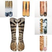 3D носки когтя животных печатных женщин мужчины хип-хоп чулок хлопчатобумажный хип-хоп 24 цвета