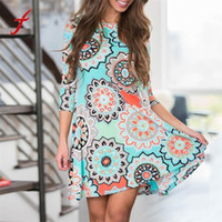 Womens Summer Vintage Boho Maxi Evening Party Beach Floral D...