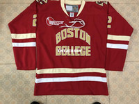 Boston #2 scott savage men College titching MEN' S Hocke...