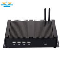 IPC Fansız Mini Industrial PC Intel Windows I5 3317U İşlemci ve Çift LAN 4 * RS232 COM Limanı