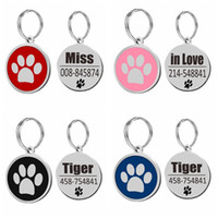 Stainless Steel Personalized Dog ID Tag Dog Accessories Meta...