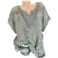 Blusas de las mujeres Verano O-cuello de manga corta ahueca hacia fuera sólido Blusa Casual Top camisa de las mujeres tops Camisas camisa feminina