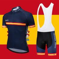 2020 Espagne bleu Nouvelle équipe Jersey Cyclisme Personnalisé Road Mountain Course Top Max Storm Maillot Ciclismo Cycling Ensembles de cyclisme