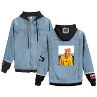 Billie Eilish Denim Bomber Jacket Men Long Coat Street Chaqueta Hip Hop Sänger Jean-Jacke Blau Schwarz Outwear Male 4XL