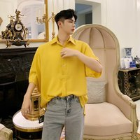 Men Solid Color Half Sleeve Thin Loose Casual Solid Pullover...