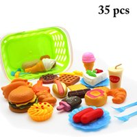 Food Toy Set Educational Simulated Pretend Play Toy Kitchen ...
