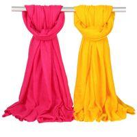 المرأة الصلبة سارونج والأوشحة 180 * 100 سنتيمتر 36 ألوان الشاطئ عادي القطن الكتان الحرير وشاح الشمس شال لينة التفاف طويل headscarf OOA7581