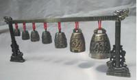 Meditation Gong mit 7 Ornate Bell mit Dragon Design Chinesisches Musikinstrument