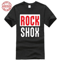 Rockshox Rock Shox Suspension Mountain Mtb T Shirt Round Nec...