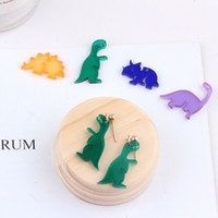 10PCS Fashion Jewelry Dinosauro Smalti Charms Gold Tone Oil Drop braccialetto fai da te Charms galleggianti