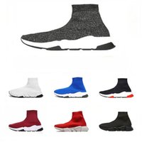 2019 Designer Mens Women Speed Stretch- Knit Mid Sneakers Lux...