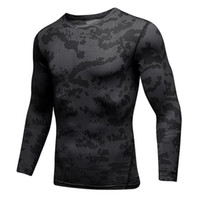 HOT 2019 automne hiver sport maigre collants GYM jogging camouflage noir blanc running football basket-ball formation t shirts hommes