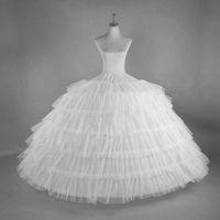 Abito da ballo Donne Petticoat Crinoline Birdcage Cosplay Indeskirt 6 Layer Tulle 6 Gonna da cerchio per matrimonio Regolabile per lolita Girl Bride