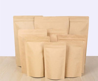 : Sacchetto alluminante Zipper Brown Kraft, Stand up in carta kraft sacchetto foglio di alluminio Riservato Zip Lock Grip seal Food Grade LZ1873