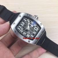 Лучшие часы 67-01 Автоматические Extra Flat Miyota Автоматические механические мужские часы Стальной корпус 316L Каркасный циферблат Резиновый ремешок Мужские спортивные часы