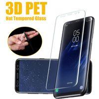 Pantalla de la cubierta completa 3D curvo protector protector de la película de PET suave para Samsung Galaxy Note S20 Ultra S10 E 5G S9 S8 S7 Edge Plus 10 9 8