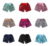 Bébé Filles Paillettes Shorts Pantalon Casual Pantalon De Mode Infant Glitter Bling Danse Boutique Bow Princesse Shorts Enfants Vêtements 14 couleur