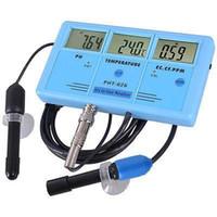 الجملة 6in1 LCD PH PPM تستر المياه EC CF TDS تيم المائية حوض مختبر متر Lots10 الرقمية