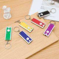 200ピースLEDキーホルダーライトボックスタイプのキーチェーンライトキーリングLED広告宣伝用創造的なギフトスモール懐中電灯キーホルダーライト5.9