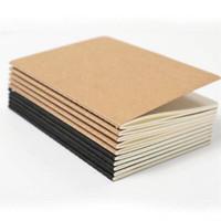 80 صفحات الدفاتر السفر مجلة القرطاسية الأسود المفكرة فارغة كرافت الكتاب الورقي لينة ورقة دفتر الملاحظات منصة الرجعية للطلاب.