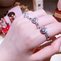 Personalized drop water shape Rings cz stone Midi Ring mircr...