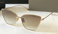 New Fashion Sunglasses Vollner Donne Design Metallo Vintage Occhiali da sole Occhiali da sole Popolare Affascinante Cat Eye Blocco per occhio Garking UV 400 Lente