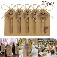 25pcs / серия Metal Key бутылки пива открывалка вина брелок Свадеб Благоприятная Урожай Кухонные принадлежности Античные подарки для гостей