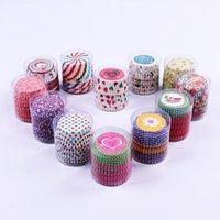 미니 사이즈 모듬 종이 컵케익 라이너 머핀 케이스 베이킹 컵 케이크 컵 케이크 금형 장식 DHL 무료 배송