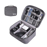 Cable Organizer Bag Digital Storage Bags Case Zip Cables USB Charger Power Bank Remote Control Pouch Portable Box GGA2667