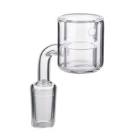 DHL Quarz Thermal Banger 10mm 14mm 18mm Doppelrohr Quarz Thermal Banger Nagel Für Glas Bongs PukinBeagle thermal P Banger575