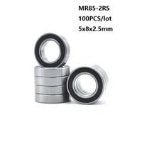 100 шт. / лот MR85-2RS MR85RS MR85 RS 2RS 5x8x2. 5 мм тонкий раздел миниатюрный мини-радиальный шарикоподшипник 5*8*2.5 mm 673-2RS