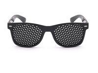 2019-Black للجنسين رؤية الرعاية الثقب العين ممارسة النظارات الثقب نظارات البصر تحسين البلاستيك جودة عالية