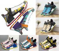 2019 MD رخيصة RACE الإنسان أحذية فاريل وليامز رجل إمرأة مصمم ماك التعادل صبغ حزمة الشمسية الأم أزياء الرياضة وحجم 36-47