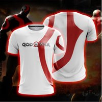 BIANYILONG 2019 Neue Sommer Casual KurzarmshirtsTees Kratos God Of War (weiß) Unisex 3D T-Shirt