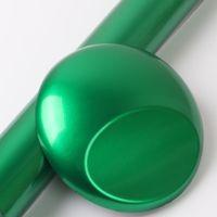 Vinile avvolgente in vinile in fibra di carbonio lucido metallizzato con bolle d'aria 1.52x18m / rotolo 4.98x59ft verde