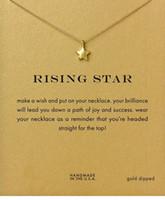 النجم الصاعد Dogeared قلادة (النجم الصاعد) نوبل ومجوهرات لذيذة 18K الذهب سحر قلادة قلادة قلادة جيد هدية 5896